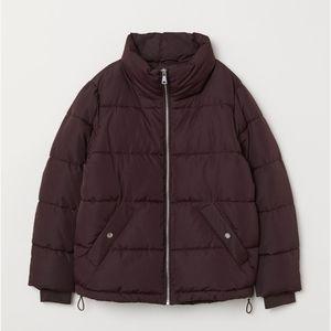 H&M Burgandy Puffer Jacket!